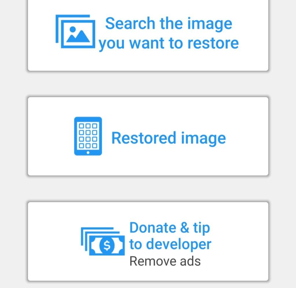 Backup deleted images