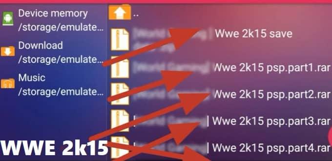 WWE 2K15 PSP ISO FILE
